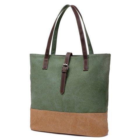 Stylish Canvas Large Capacity Tote Bag Shoulder Bag For Women