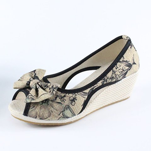 Bowknot Casual Slip On Sandals