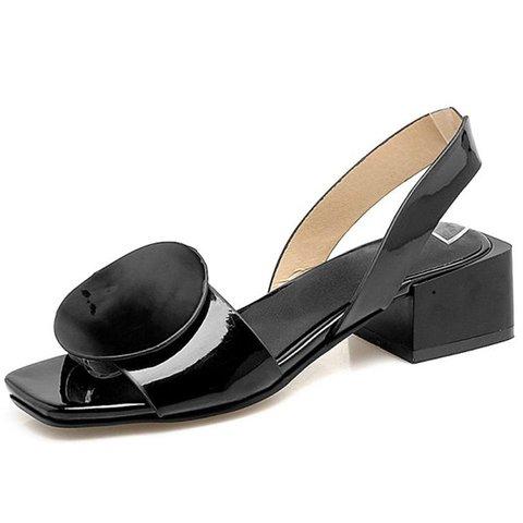 Chunky Heel PU Casual Summer Sandals