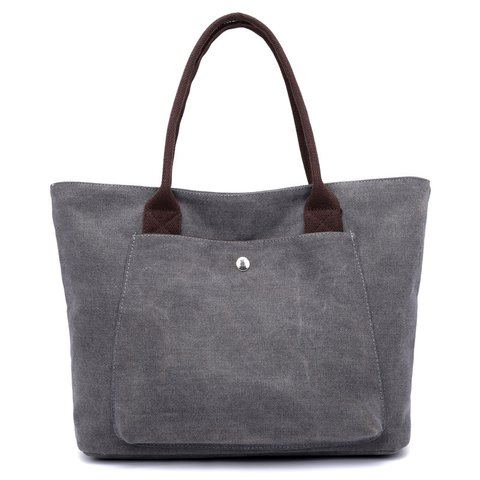 Casual Shopping Daily Large Capacity Canvas Tote Bag For Women