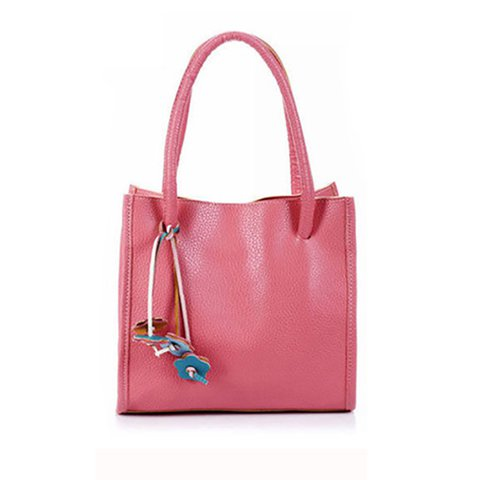 Candy Color Stylish Commuter Handbag For Ladies