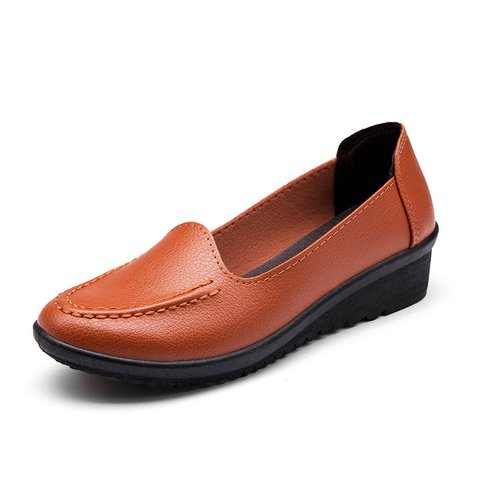 PU Low Heel Casual Flats