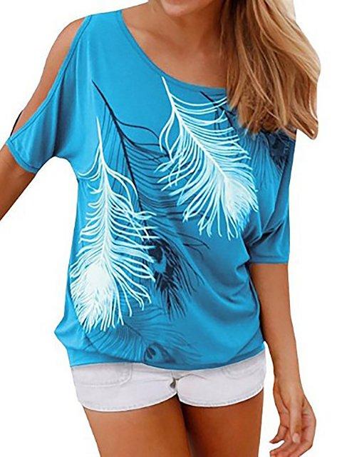 Abstract Short Sleeve Casual Printed T-Shirt