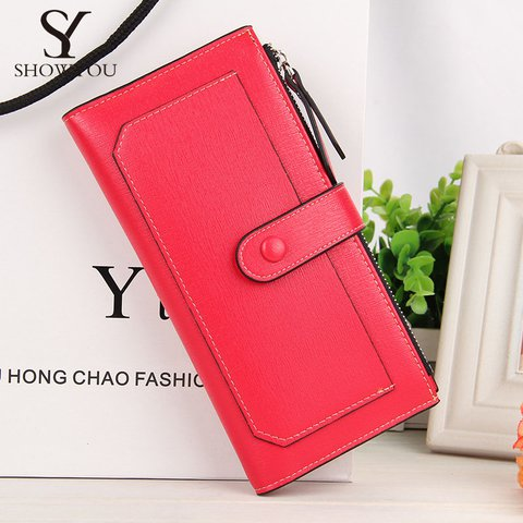 Women Elegant Long Candy Color Wallet Casual Phone Purse Card Bags