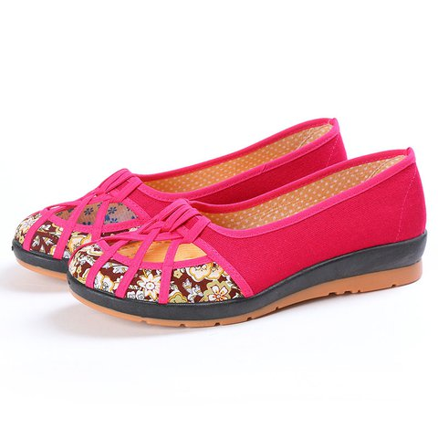 Canvas Hollow-out Casual Flats