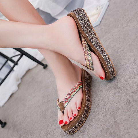 Khaki Casual Slip On Slippers