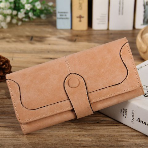 PU Leather 17 Card Slots Card Holder Long Bifold Checkbook Wallet For Women