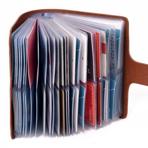Plain Pattern 60 Card-slots RFID Antimagnetic Elegant Wallet