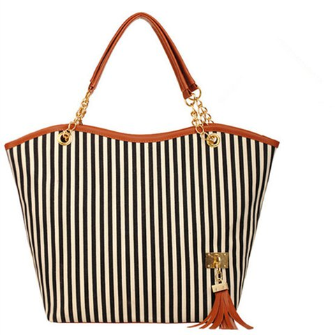 Stripe Pattern Elegant Stylish Dating Handbag For Women