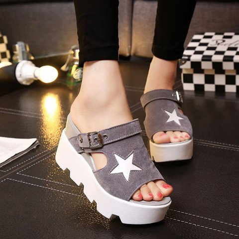 Nubuck Casual Adjustable Buckle Sandals