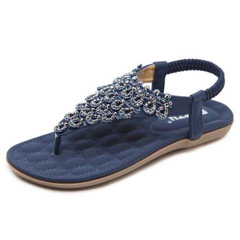 Bohemia Rivets Clip Toe Beach Flat Sandals
