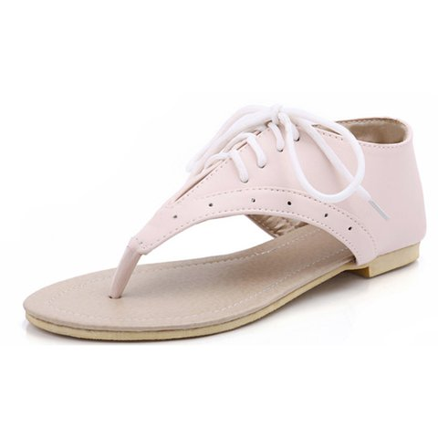 PU Lace-up Casual Sandals