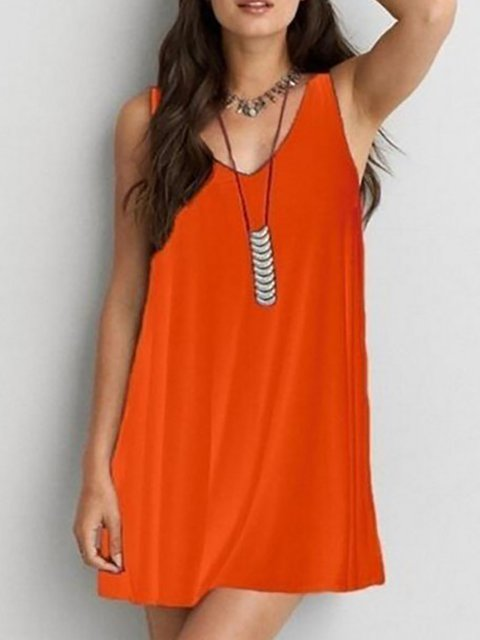 A-line Women Spaghetti Cotton Elegant  Summer Dress