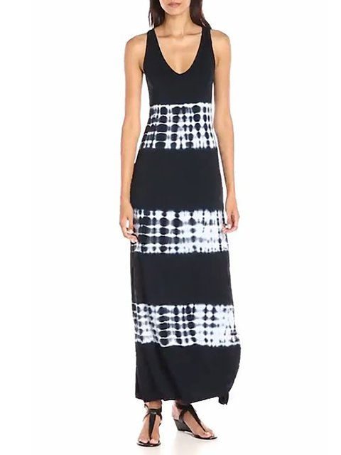 Black Sheath Women Elegant Sleeveless Paneled Abstract Summer Dress
