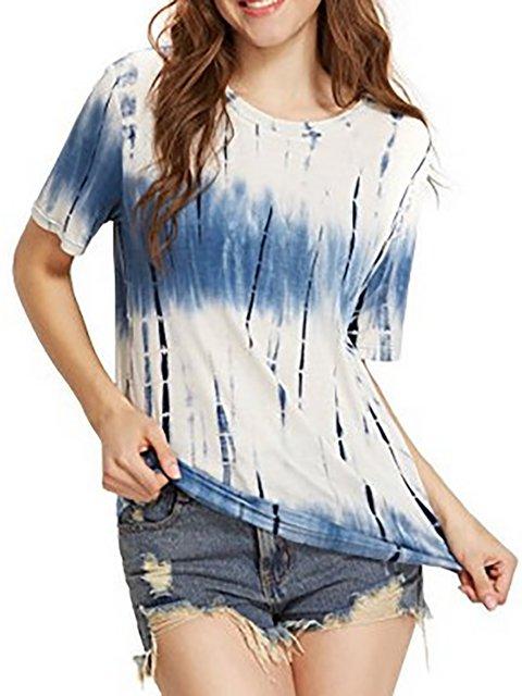 Crew Neck Short Sleeve Printed T-Shirt