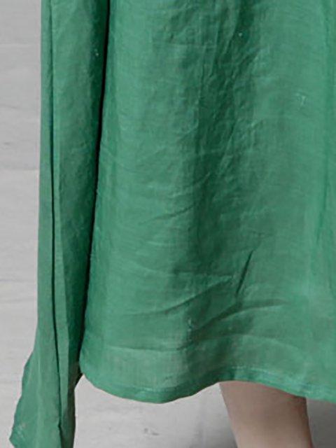 Linen Sleeve Dress line Daytime A Casual Paneled Short Women qwt7CP8X