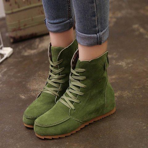 820b43dde1e Round Toe Women Ankle Lace-Up Boots - JustFashionNow.com