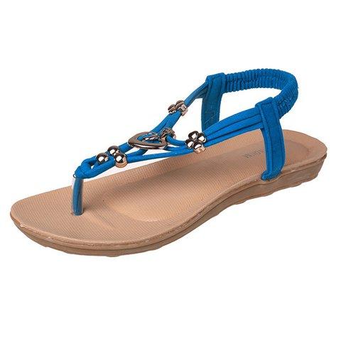 Metal Bohemia Slip On Clip Toe Flat Beach Sandals