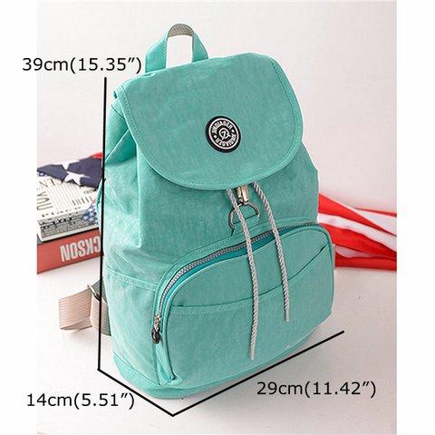 c2be0970e9 Women Nylon Waterproof Casual Backpack Travel Outdoor Schoolbags ...