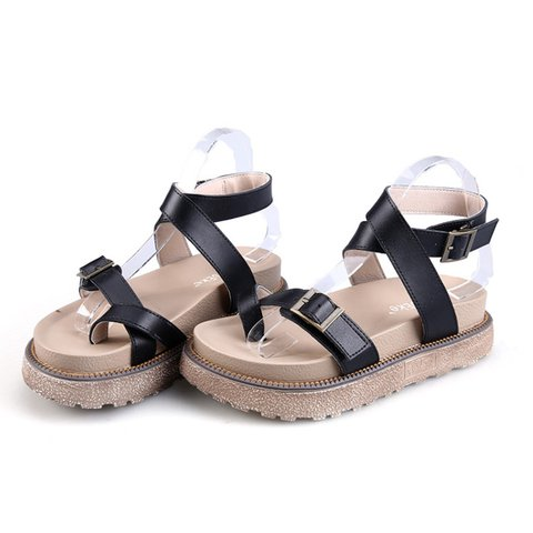 9df48f666593e Sandals Ankle Strap Buckle Flip Flop Gladiator Shoes ...