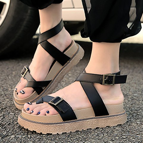 Sandals Ankle Strap Buckle Flip Flop Gladiator Shoes