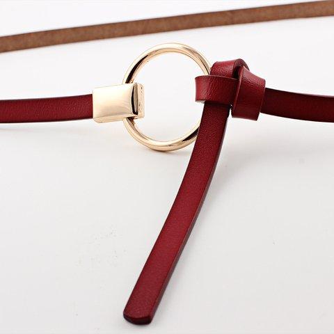 Women Casual Plain Split Leather Belt