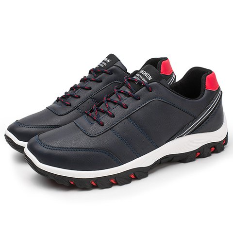 Lace-up Artificial Leather Daily Sneakers