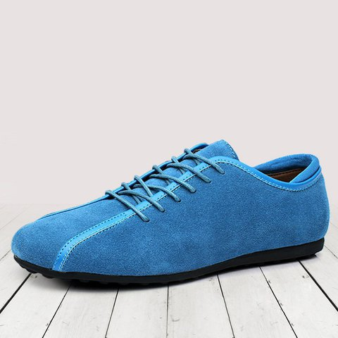 Flat Heel Artificial Leather Casual Lace-up Shoes