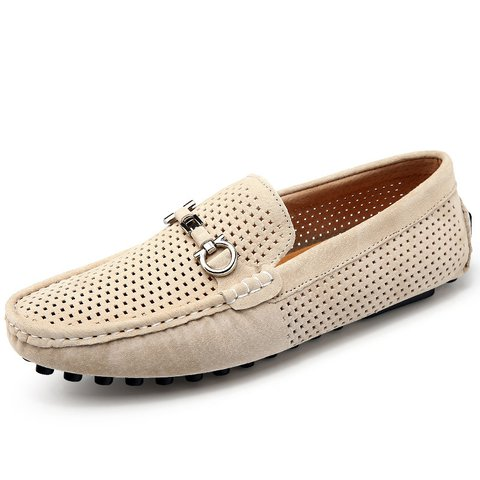 2f02d57fa81bd5 Blue Daily Hollow-out Flat Heel Flats   Loafer - JustFashionNow.com