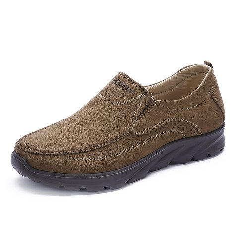 Men Large Size Breathable Non-slip Soft Sole Casual Cloth Shoes