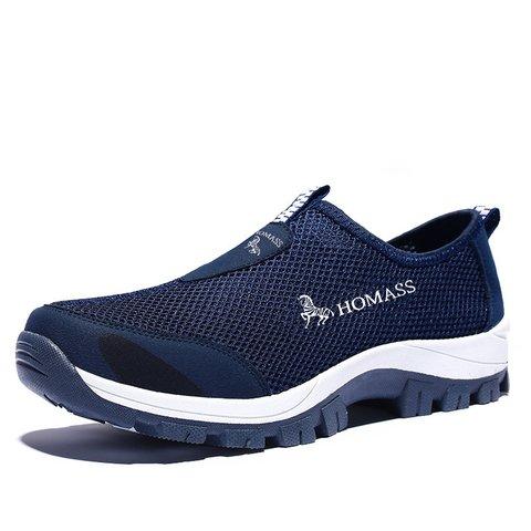 Men Breathable Mesh Fabric Wear-resistant Outdoor Sneakers