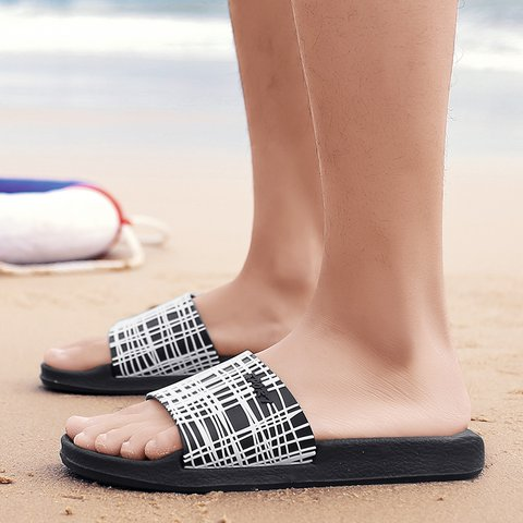 c0fd42b6c7ac Seaside Flat Heel Casual Plastic Slippers - JustFashionNow.com