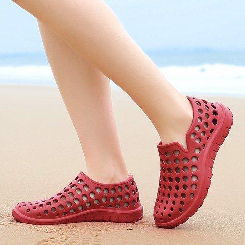 dd6c4c8fed6d7b Men Hole Light Weight Soft Beach Shoes Water Sandals ...