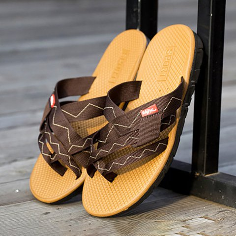 Men Webbing Clip Toe Beach Water Sandals