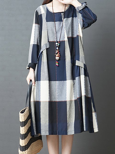A Long Casual Paneled Cotton line Statement Women Daily Dress Sleeve anfa6T
