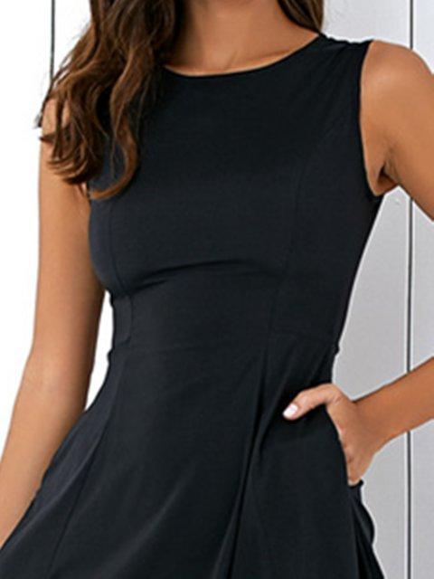 Justfashionnow Plus Size Crew Neck Women Summer Dress A