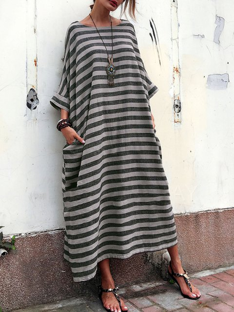 7374948549183 JustFashionNow Plus Size Women Casual Dress Crew Neck Cocoon Going ...