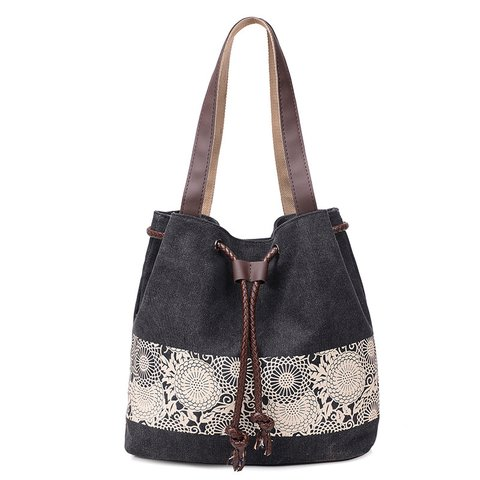 baed81e223 Classic Women Casual Canvas Bags Ladies Shoulder Bags Handbag ...