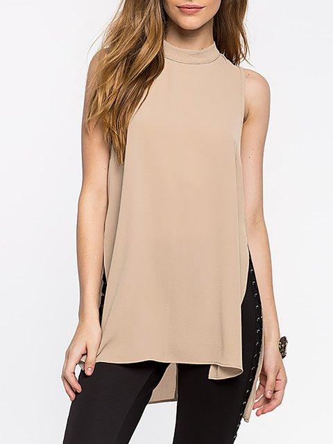 Chiffon Casual Sleeveless T-Shirt