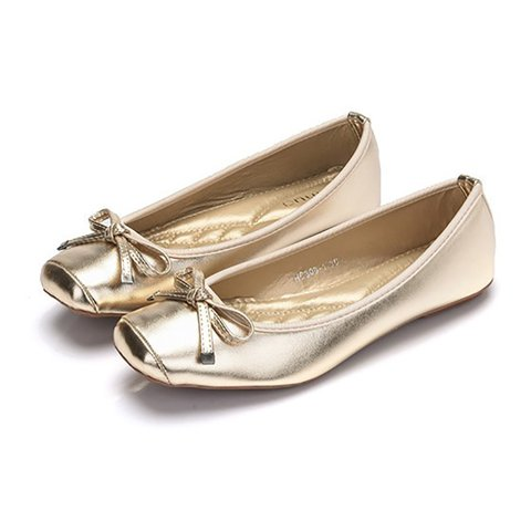 Daily Bowknot Leather Casual Flats