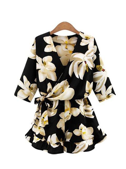 Cotton-blend Resort Dress Floral Jumpsuits