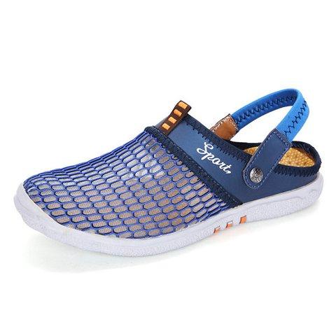 Men Mesh Breathable Adjustable Heel Strap Backlees Casual Shoes
