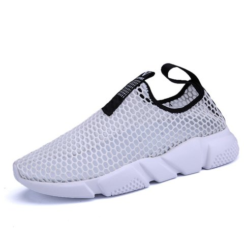 Breathable Flat Heel Athletic Mesh Fabric Shoes