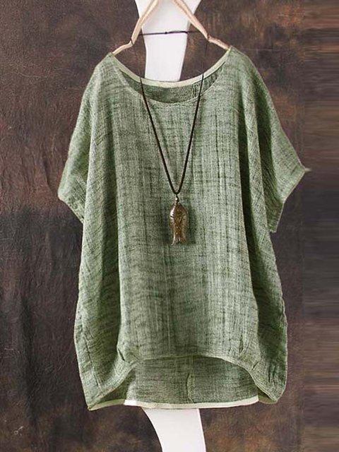Short Sleeve Bamboo Fiber Summer T-Shirt