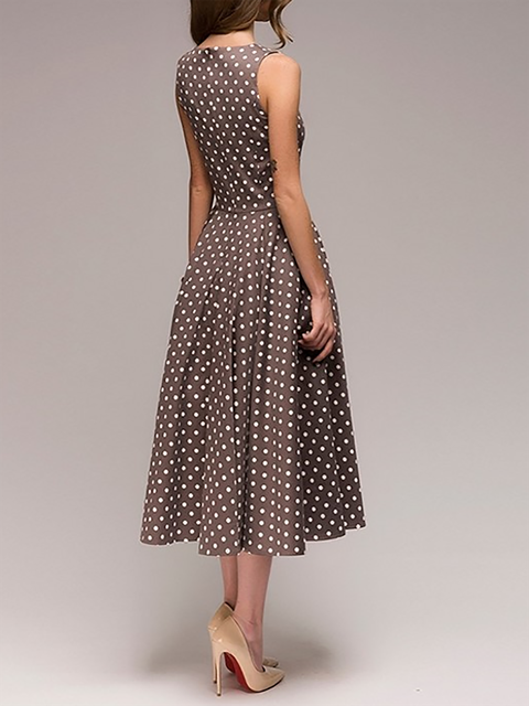 d76707f9059 JustFashionNow Crew Neck Women Summer Dress Swing Dress Sleeveless ...