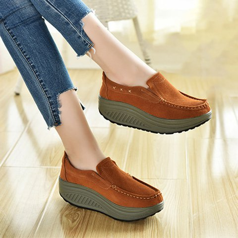 Daily Slip On Casual Creeper Shoes