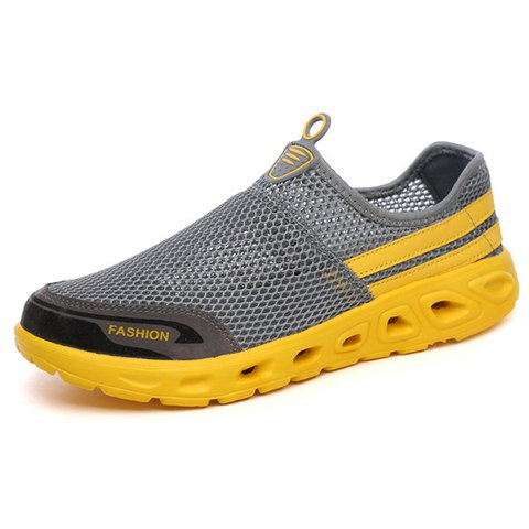 Men Mesh Fabric Breathable Light Weight Multifunction Upstream Shoes