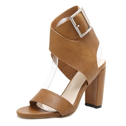 Adjustable Buckle Daily Chunky Heel Pumps