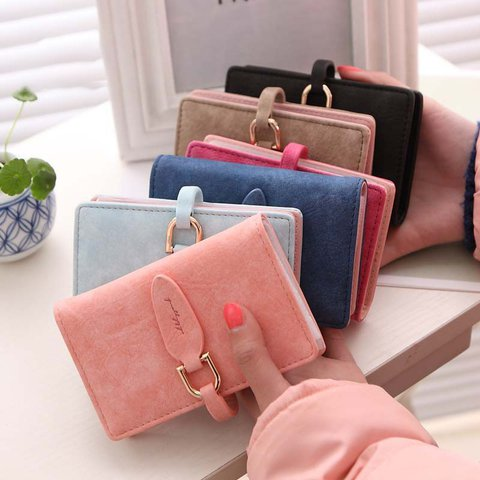MFS Card Holder Casual Buckle PU Bags