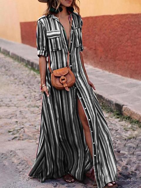 Collar Summer Elegant Sleeve line A Dress Shawl Half Women Paneled BUvvq